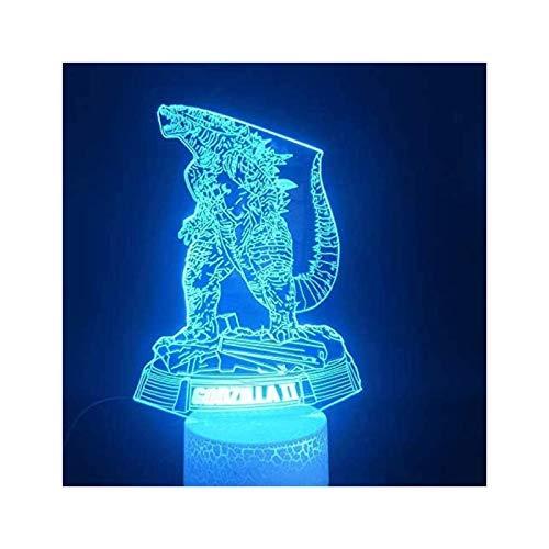 Ilusión 3D de la lámpara 16 que cambia acrílico Noche de luz LED, luces de la habitación la decoración del hogar, cargador USB, bastante fresco juguetes de los regalos de cumpleaños Ideas de vacacione