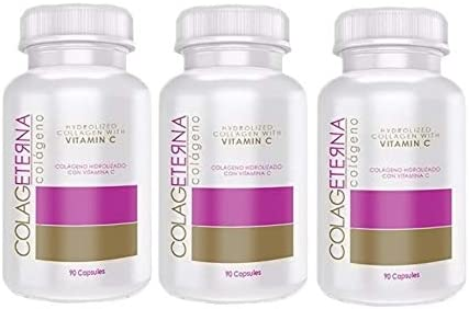 COLAGETERNA Ranking TOP6 3 Bottles Hydrolyzed Collagen with Recommended Colag Vitamin C