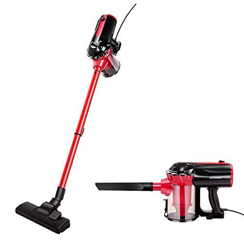 FAPDNEM 600w Vacuum Cleaner Corded Stick Vacuum 17Kpa Powerful Suction 2 in 1 Handheld Vacuum for Hard Floor