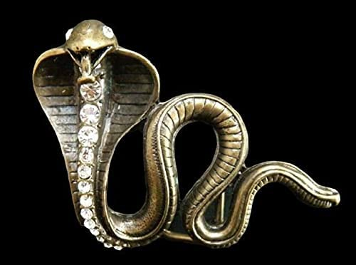 Snake Cobra Max 55% OFF Reptile Serpent Python Vintage List price Buckl Belt Rhinestone