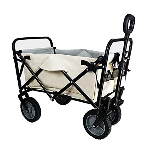 Z-SEAT Carro Plegable para vagones de Alta Resistencia, Remolque de Transporte, con Tirador, Soporte de plástico para rociado/Tela Oxford, para Compras al Aire Libre en e