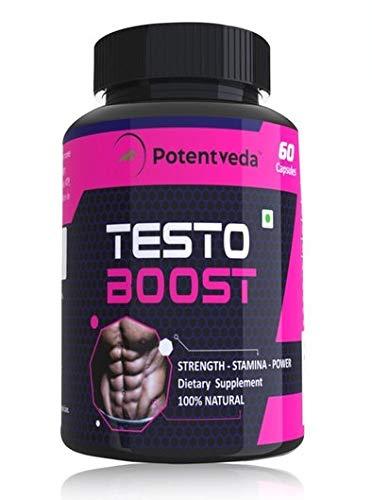 Potentveda Testoboost supplement for Men gym workout supplement - 60 Capsules