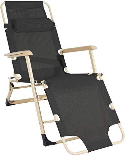 Sillas de salón de playa Silla de salón reclinable sillas plegables al aire libre ligero Silla de salón conveniente de la luz Sillas plegables portátiles con patio ajustable Silla de tumbona al aire l