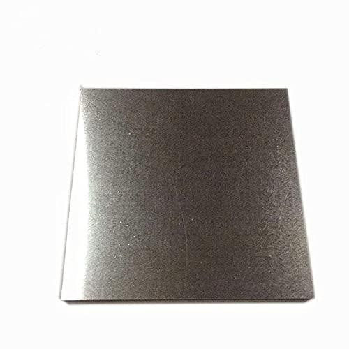 XMRISE Pure Wolfram Platte Blockfolie Spezialmetall Rohstoffe Wissenschaftliche Forschung und Experimente 100mmx100mm,Thickness 0.7mm