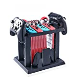 DeHasion Multifunctional Game Disk Storage Tower Holder Stand for Nintendo Switch Console Accessory 2 Poke Ball Plus Controllers Stand Holder