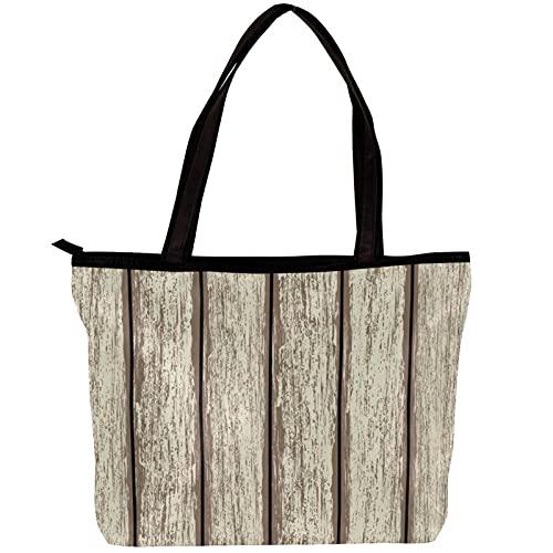 LORVIES Damen Schultertasche und Handtaschen aus Holz, Alte Zaun Tasche für Mädchen