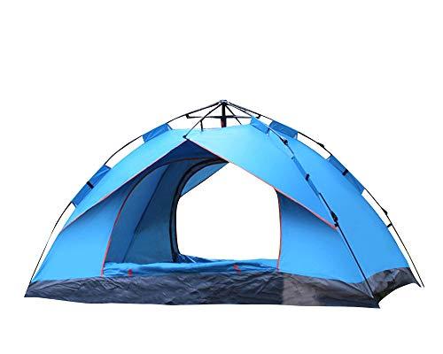 thematys Outdoorzelt leichtes Pop Up Wurfzelt Zelt in Grün und Blau mit Tragetasche - perfekt für Camping, Festivals und Urlaub (1-2 Personen, Style 2)