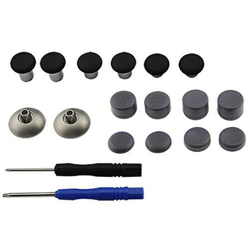 Rehomy Vervangende Miniatuursticks Trigger Button Caps met Schroevendraaier voor Xbox One/Elite/PS4 Controller 18pcs-rood, Zwart