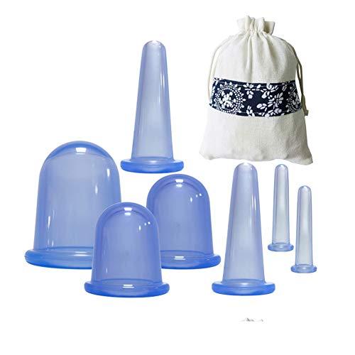 DOMIRE Vakuum Saug Massage Cup Schröpfen Set Silikon Anti Cellulite Gesicht Körpermassager Home Use 7 PC Cellulite Schröpfen