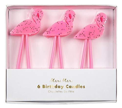 Meri Meri Kleine Flamingo Kerzen Set DIY Kuchen Cupcakes Geburtstag Party Dekorationen Rosa 6 Stück
