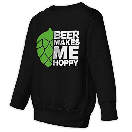 WoodWorths Bier Macht Mich hopfig Hoodie Pullover Junge Mädchen Kind O Hals Freizeit(5/6 t,schwarz)