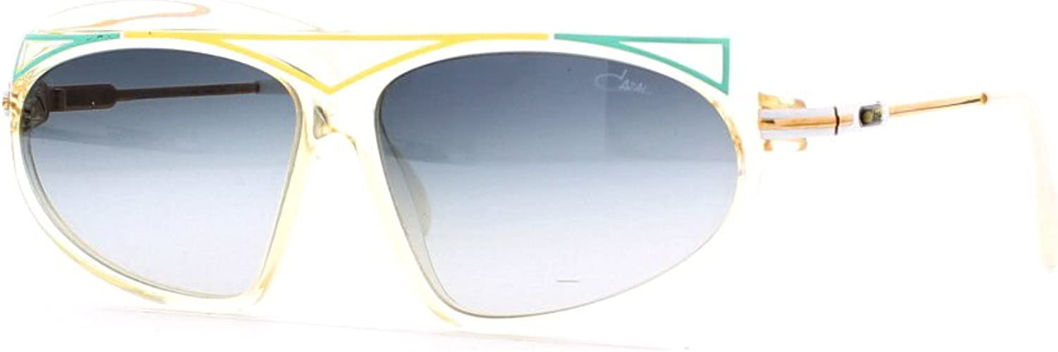 Cazal 854 222 Clear Certified Vintage Rectangular Sunglasses For Womens