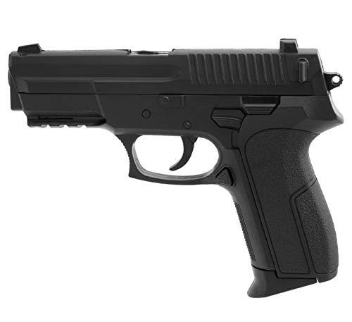 Softair Gun Airsoft Pistole + Munition | Cadofe 2018A. Profi Voll ABS | 19cm. Inkl. Magazin & unter 0,5 Joule (ab 14 Jahre)