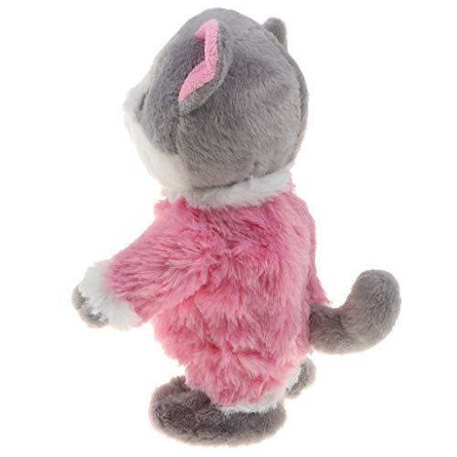 Elektronische Haustiere Sprechende Tiere Spielzeug Funktionsplüsch mit Katze Figur, Geschenk für Geburtstag und Neujahr - Rosa