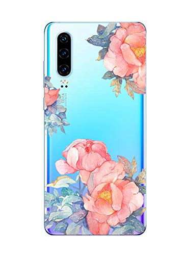 Suhctup Case Compatible con Huawei Honor 9i/Honor 9N Funda Silicona Transparente Dibujos Diseño TPU Bumper Crystal Ultra Slim Antigolpes Protection Cárcasa Cover para Huawei Honor 9i/Honor 9N,Flor 2