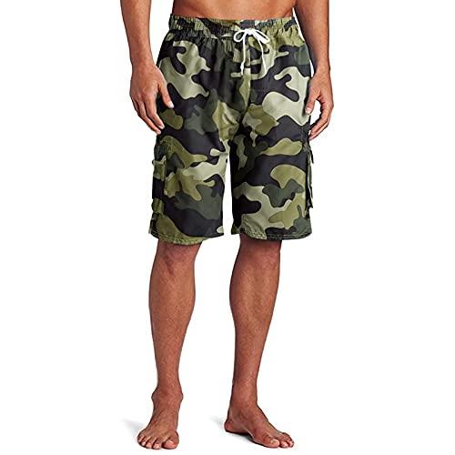 Uomo Pantaloncini da Bagno Estivo con Coulisse Surf Costumi da Bagno Casual Stampati Shorts da Spiaggia Pantaloncini da Basket Moda di Strada Pantaloni Corti da Running Jogging