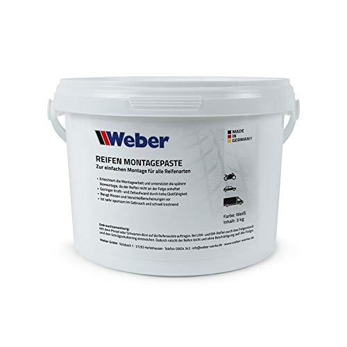 Weber GmbH Reifen Montagepaste weiß 3 kg Reifenmontagepaste Reifenmontierpaste