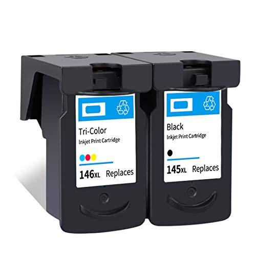 Cartuchos de tinta, Reemplazo del cartucho PG145 CL146 para Canon MG2410 MG2510 IP2900 Cartuchos de impresora de inyección de tinta de alto rendimiento negro y color black and color