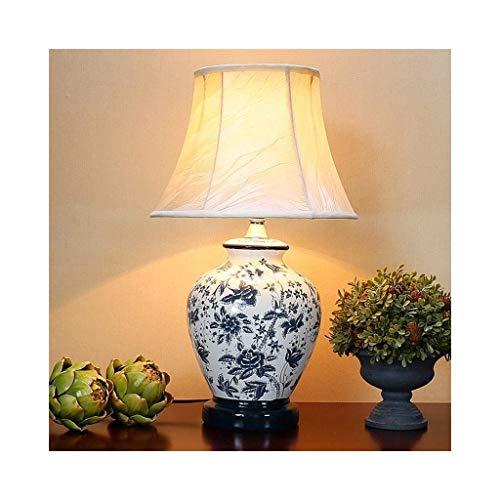 Tafellamp van keramiek, voor woonkamer, tafellamp, modern, minimalistisch, restaurant, decoratie, tafellamp, Europese stijl, lampenkap E27, T-D Bleu D'encre