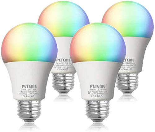 Our #2 Pick is the Peteme 4-Pack 60W Color Changing Smart Light Bulb
