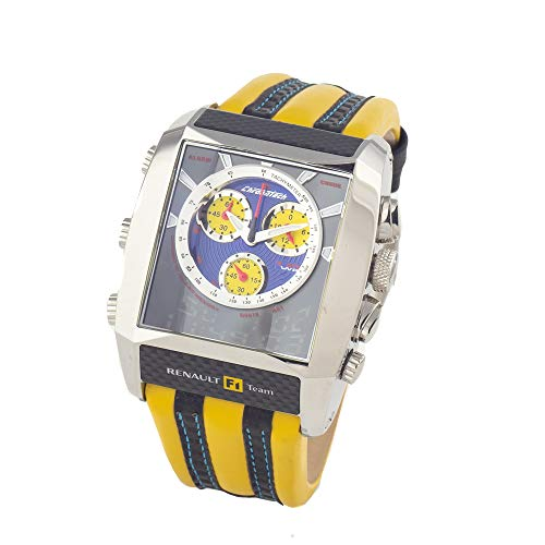 Chronotech Herren Analog Quarz Uhr mit Leder Armband CT7868M-05