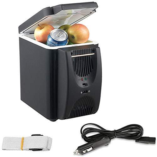 RSTJ-Sjef Mini Refrigerador De Coche, Enfriador De Bebida Eléctrico Compacto De 6L Y 12 V, Función De Frío Y Calor, Refrigerador Portátil De Mostrador Eléctrico, Camión Y Dormitorio En Casa