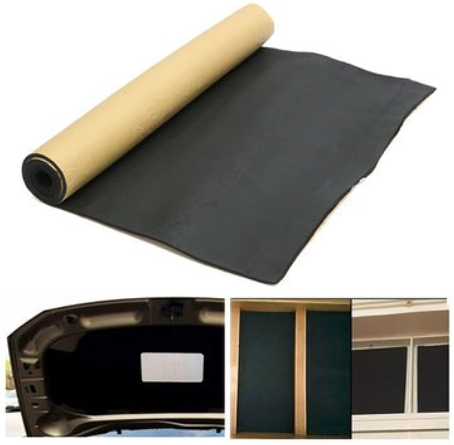 Car Modifications Sound & Heat Insulation Cotton  300cmx100cm 3mm Car Sound Proofing Deadening Heat Insulation Closed Cell Foam  1 X Sound Proofing Deadening