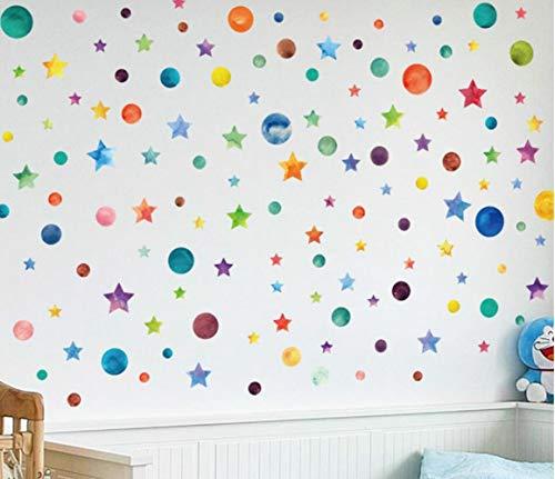 QTXINGMU muursticker kleur sterren slaapkamer veranda kasten TV muur glas Windows kleuterschool lay-out decoratieve muursticker