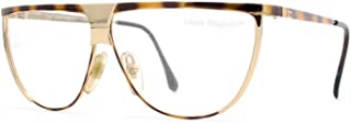 V89 63E Brown and Gold Authentic Women Vintage Eyeglasses Frame