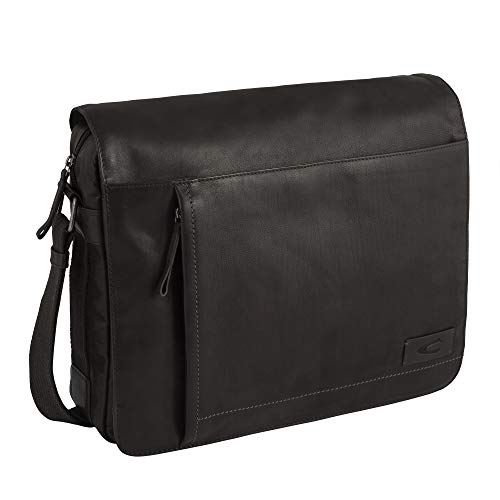 camel active, Messenger Bag, Herren, Umhängetasche, Arbeitstasche, Business Tasche, Schultertasche, Laredo, Schwarz
