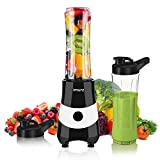 Smoothie Blender for Shakes and Smoothies Fruit Vegetable Drink, 300W Powerful Mini Personal Smoothie Maker with 2 x...