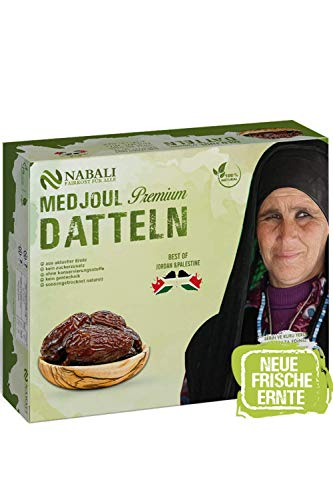 NABALI FAIRKOST FÜR ALLE Medjool Medjoul Datteln - Das Beste aus Palästina & Jordanien - 100% naturell vegan & frisch I ohne Konservierungsstoffe (1)