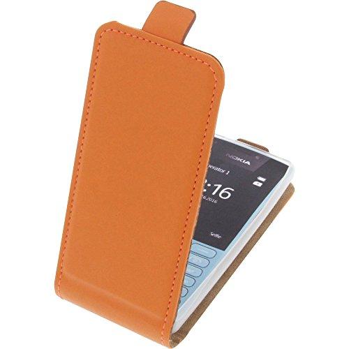 Tasche für Nokia 216 Smartphone Flipstyle Schutz Hülle orange