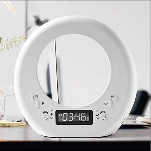 Alarma Reloj Despertador Luz de Carga Táctil Lámpara de Despertador para la Cama para la Alma de Dormitorio Amanecer Amanecer/Puesta de Sol Simulación y Snooze Función 7 SoundSttime Función de memor