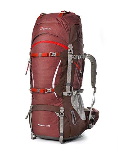 Mountaintop 70L+10 Zaino Trekking Impermeabile Escursionismo montagna campeggio alpinismo viaggio 85*35*30 CM