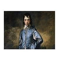 Gainsborough-the Kid in Blueランチョンマット耐える 飾り 食卓 雰囲気 丸洗い 華やか おしゃれ テーブル 断熱 水洗い 大人 子供 対応 30*40cm