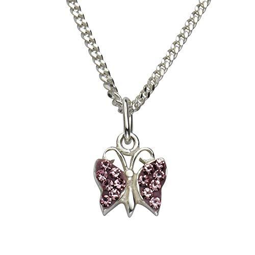 ZEEme 500244395R - Catenina con pendente per bambini, argento sterling 925, 380 mm