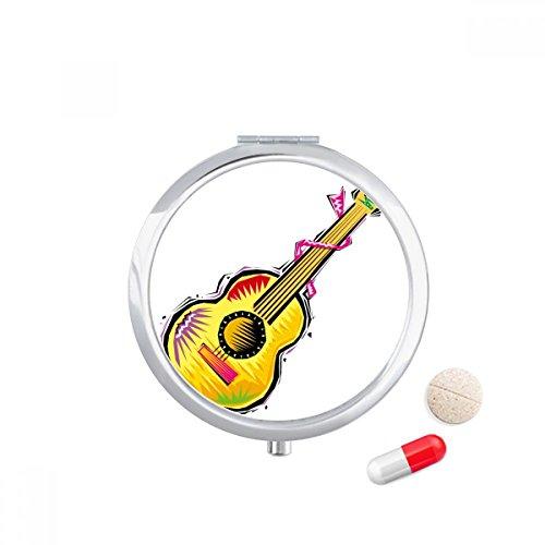 DIYthinker Instrument Gitaar Mexicon Element Illustratie Travel Pocket Pill case Medicine Drug Storage Box Dispenser Mirror Gift