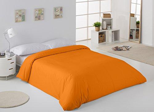 ESTELA - Funda nórdica Combi Color Naranja - Cama de 90 cm. - 50% Algodón / 50% Poliéster - 144 Hilos
