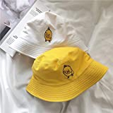 Sombrero de Cubo deVeranopara Hombres y Mujeres, Gorras de Mujer Reversibles de algodón a la Moda, Gorras de niños tristes,Sombrero de Pescador de PlayaPlegable para el Sol-White Two Sided