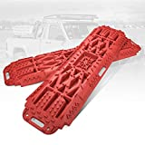 BUNKER INDUST Off-Road Traction Boards with Jack Lift Base, 2 Pcs Recovery Tracks Traction Mat for...