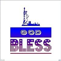 WANG251 13cm x 11.3cm神の祝福アメリカのビニール車のステッカートランクの窓のデカールエアコンの傷防止日焼け止め (Color Name : Style A)