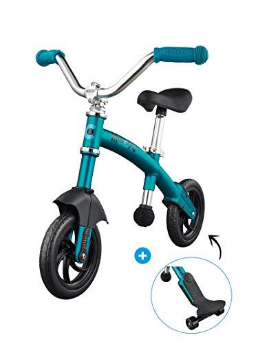 Micro® G-Bike Chopper Deluxe, Bicicleta de Equilibrio sin Pedales, Edad +2años, Peso 2,45kg, Carga Máx 20Kg, Sillín Regulable 35-46cm, Rodamientos ABEC9, Suspensión Delantera (Aqua)