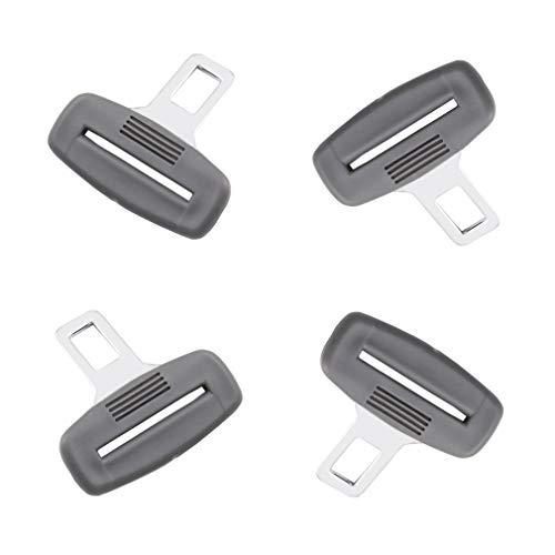 QD 4 Pack Car Seat Belt Clips Car Seat Belt Buckles Auto Seat Belt Plugs Auto Metal Seat Belt Clips (Gray)