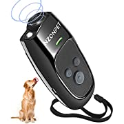 nzonpet Anti Barking Device, Ultrasonic Dog Barking Deterrent Devices, Rechargeable 3 Frequency Bark Control Device Effective Control Range of 16.4 Ft with LED Flashlight and Wrist Strap(Black)