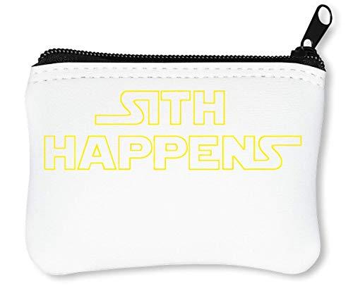 Sith Happens Funny Reißverschluss-Geldbörse Brieftasche Geldbörse