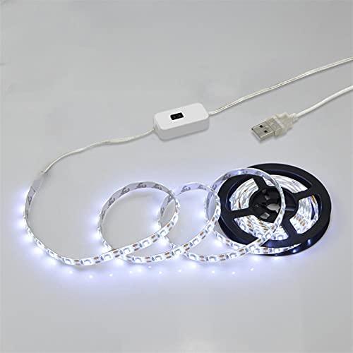 Luces de Espejo de Maquillaje Alimentado por USB Blanco Cinta del LED Caliente 2835 8 mm LED Lámpara de vanidad Decoración de Dormitorio (Emitting Color : Hand Sweep White, Length : 3m)