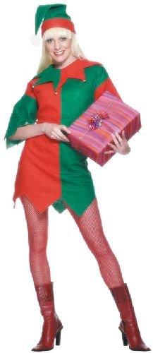 Smiffys Damen Elfen Kostüm, Tunika und Mütze, Größe: M, 21474
