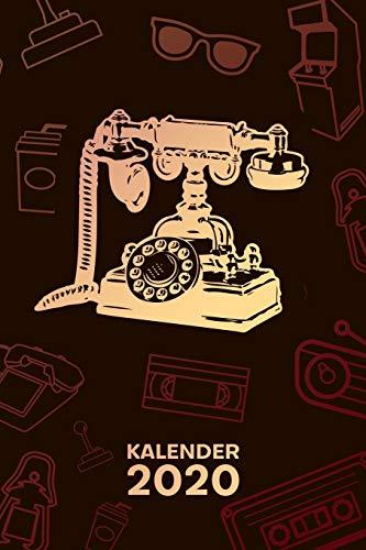 Kalender 2020: A5 Vintage Terminplaner für Vintage Liebhaber mit DATUM - 52 Kalenderwochen für Termine & To-Do Listen - Antiquität Terminkalender Wählscheibentelefon Jahreskalender Vintage Telefon