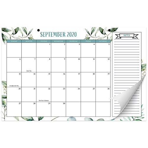 "Aesthetic Greenery Desk Calendar 17""x11"" - Desktop/Wall Calendar for Easy Planning, Incl. Year 2021"